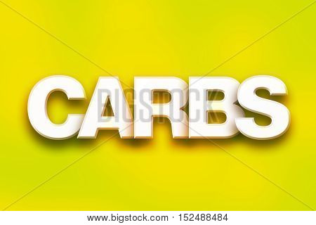 Carbs Concept Colorful Word Art