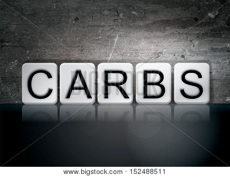 Carbs Tiled Letters Concept And Theme