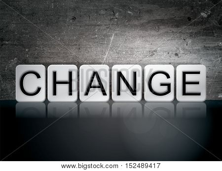 Change Tiled Letters Concept And Theme