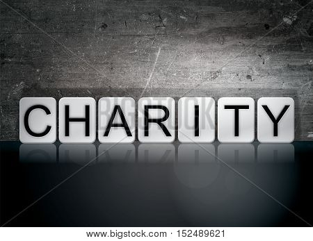 Charity Tiled Letters Concept And Theme