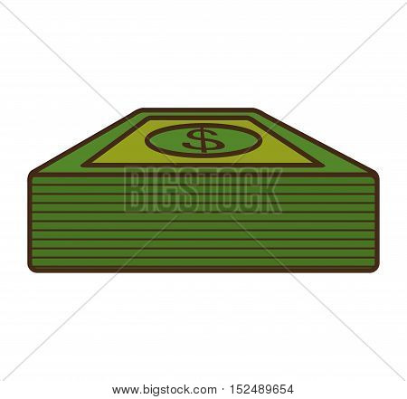 bills dollars money isolated icon vector illustration design