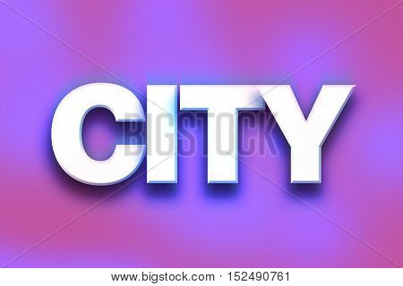 City Concept Colorful Word Art