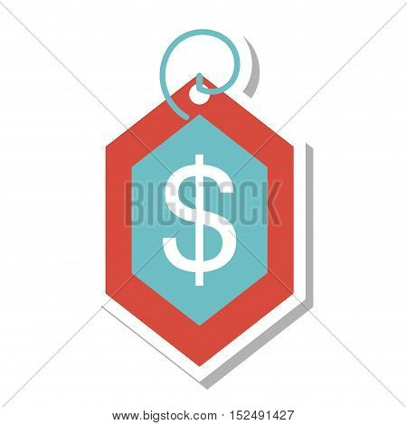 price commerce tag isolated icon vector illustration design