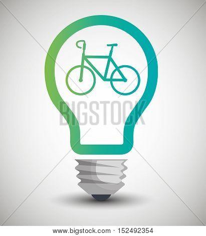 bulb ecological bike transport concept vector illustration eps 10