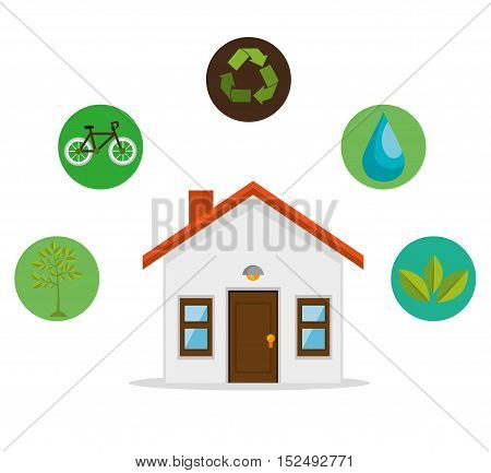 eco friendly home environmental design vector illustration eps 10
