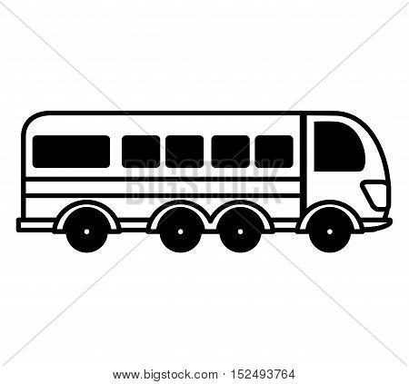 bus public transport isolated icon vector illustration design