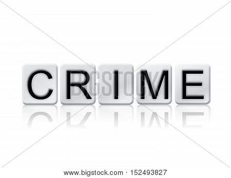 Crime Isolated Tiled Letters Concept And Theme