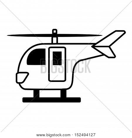helicopter transport isolated icon vector illustration design