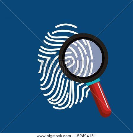 finger print search secure data vector illustration eps 10