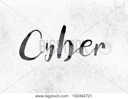 Cyber Concept Painted In Ink