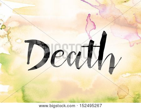 Death Colorful Watercolor And Ink Word Art