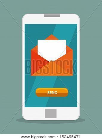 mobile phone email envelope icon design vector illustration eps 10