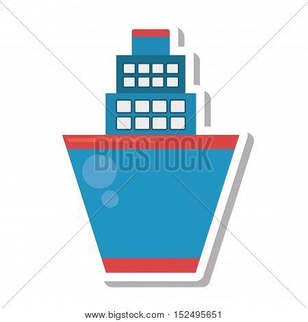 cruise ship transport isolated icon vector illustration design