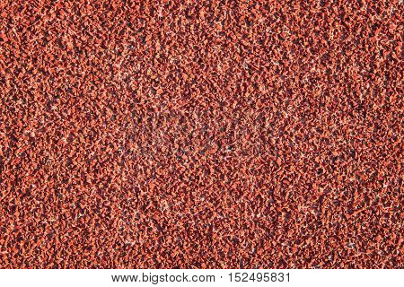 Red Color Rubber Surface or Running Track Texture as Background