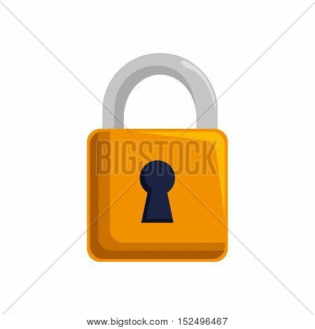 padlock lock security mobile design vector illustration eps 10