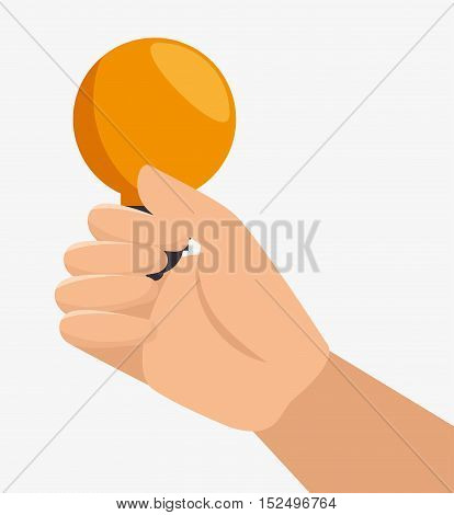 hand hold bulb energy idea vector illustration eps 10