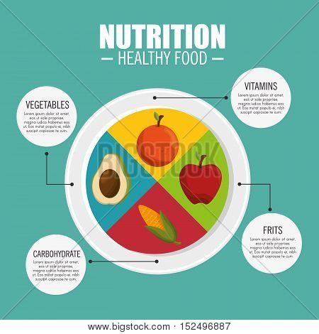nutrition healthy food infographic vector illustration eps 10