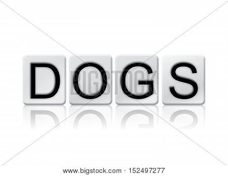 Dogs Isolated Tiled Letters Concept And Theme