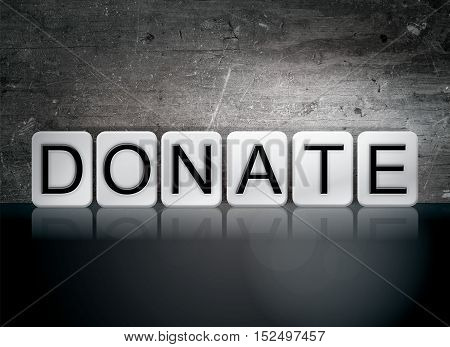 Donate Tiled Letters Concept And Theme