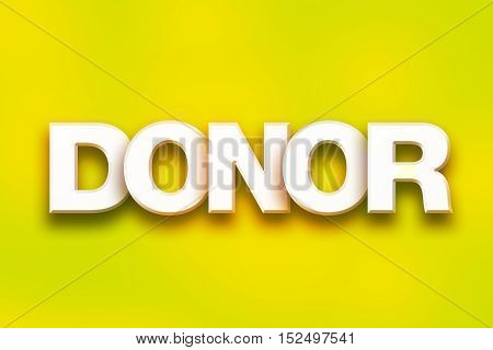 Donor Concept Colorful Word Art