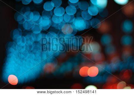 Abstract circular bokeh background. Bokeh night backdrop
