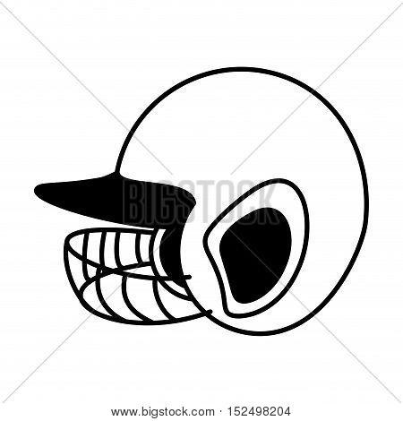 baseball helmet equipment uniform icon vector illustration design