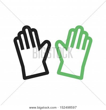 Leather, gloves, winter icon vector image. Can also be used for spring. Suitable for mobile apps, web apps and print media.