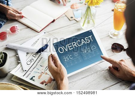 Overcast Weather Forecast Climate Temperature Concept