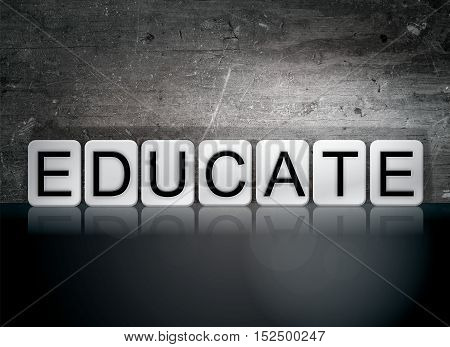 Educate Tiled Letters Concept And Theme