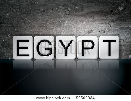 Egypt Tiled Letters Concept And Theme