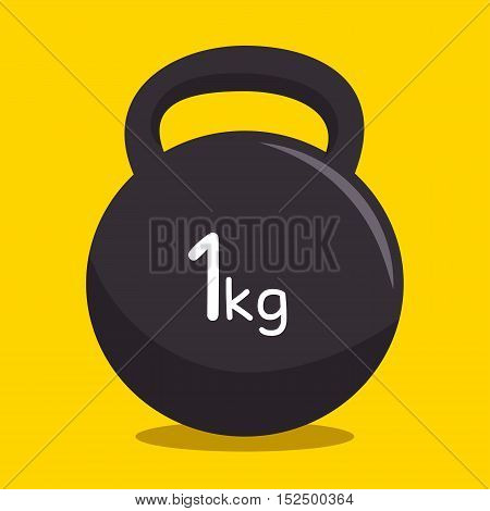 kettlebell weight fitness gym vector illustration eps 10