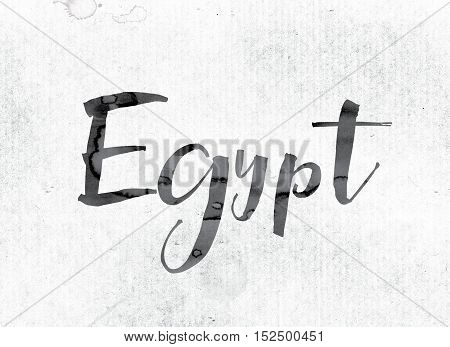 Egypt Concept Painted In Ink