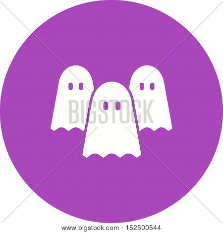 Ghost, dark, fear icon vector image. Can also be used for circus. Suitable for mobile apps, web apps and print media.
