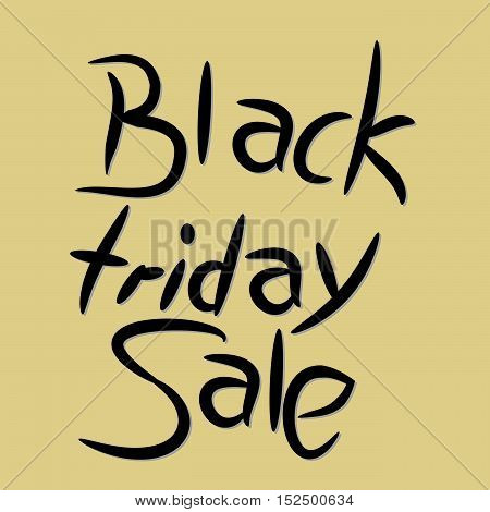 Black Friday sale abstract hand drawn illustration