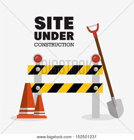 tools site under construction design vector illustration eps 10