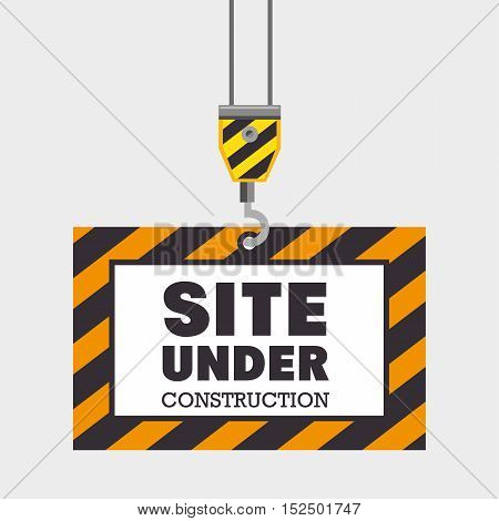 hook holding site under construction concept vector illustration eps 10