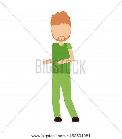 man human avatar isolated icon vector illustration design