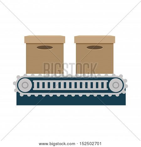 band transport boxes isolated icon vector illustration design