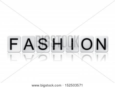 Fashion Isolated Tiled Letters Concept And Theme