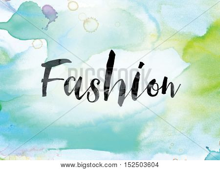Fashion Colorful Watercolor And Ink Word Art