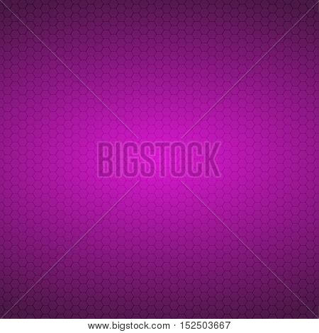 Mosaic Tile Honeycomb Vector Background. Comb Halftone Fone. Purple Background. Vector illustration for Web Design.