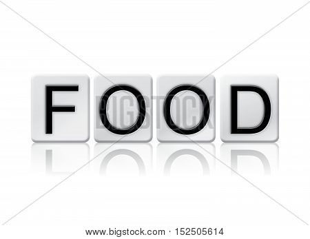 Food Isolated Tiled Letters Concept And Theme