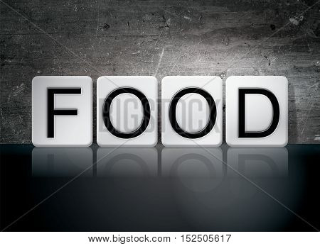 Food Tiled Letters Concept And Theme