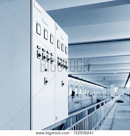 Interior Landscape of Modern Urban Wastewater Treatment Plant.