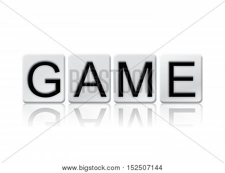 Game Isolated Tiled Letters Concept And Theme