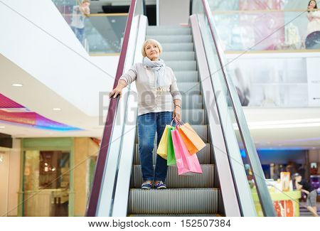 Consumer in shopping mall