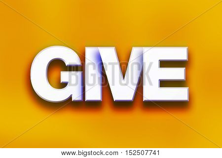Give Concept Colorful Word Art