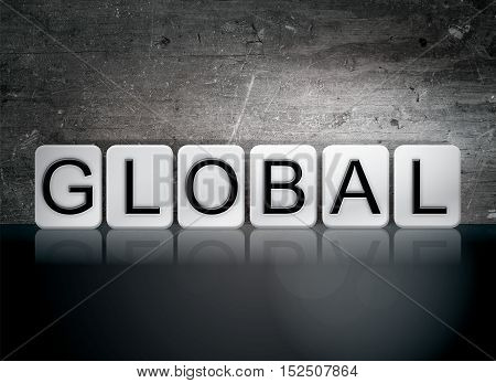 Global Tiled Letters Concept And Theme