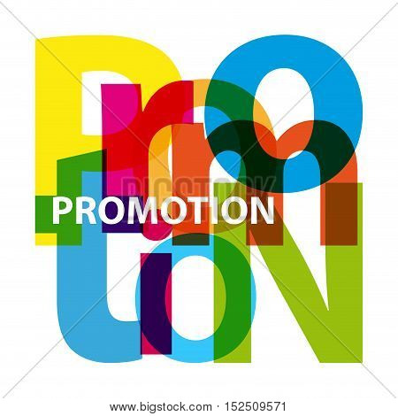 Vector promotion. Isolated confused broken colorful text
