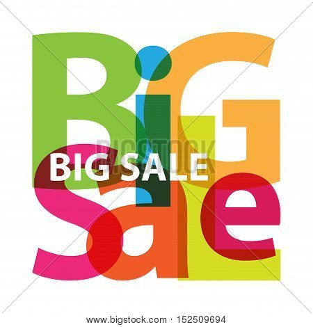 Vector big sale. Isolated confused broken colorful text